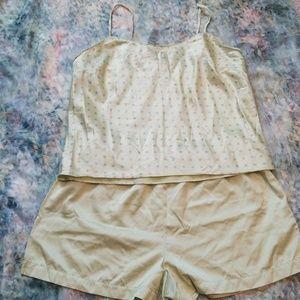 Victoria's Secret Silk Blend Tank and Shorts Sz M